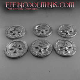Skull Coin – War Game Objective Markers – 30 MM Pewter