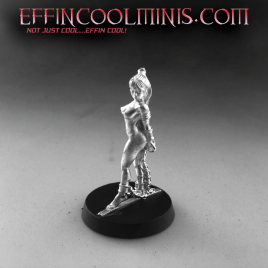Slave Vivienne Tabbed Base Pewter Miniature – Nude
