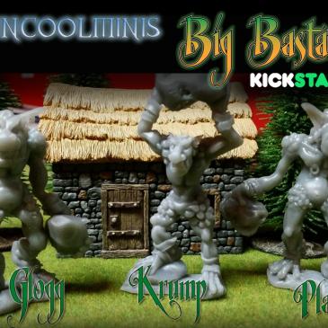 Ending 24 Hrs-Big Bastards 80mm Troll Kickstarter