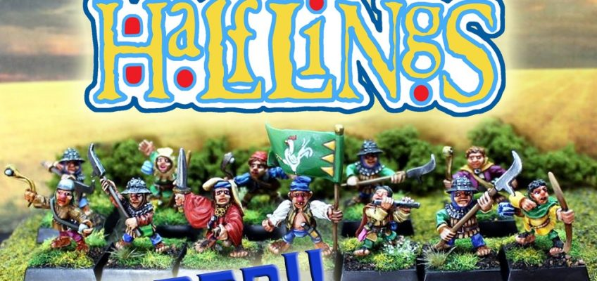 Classic OldHammer Halfling Miniatures in True 28mm Scale – Funded