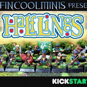 Classic Oldhammer Halfling Miniatures in True 28mm Scale – Launch!