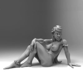 Bather Sitting by Effincool Miniatures