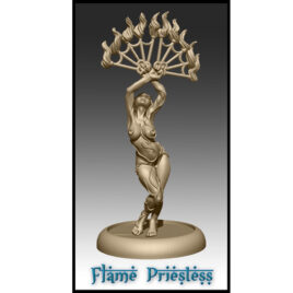 The Flame Priestess from Effincool Miniatures
