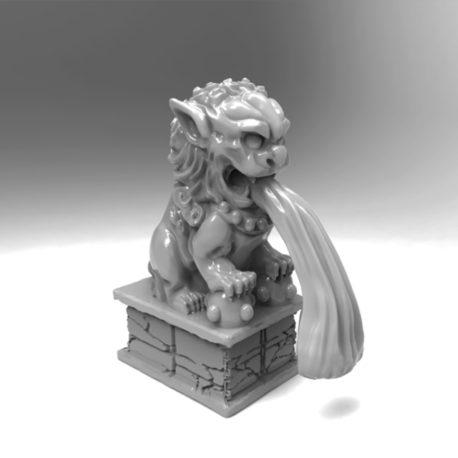 Foo Dog Fountain by Effincool Miniatures