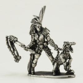 Kora and Dread Hound from Metamorphosis Alpha