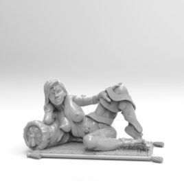 Lounging Hetaira by Effincool Miniatures