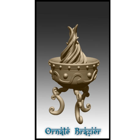 Ornate Brazier by Effincool Miniatures