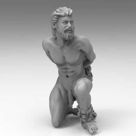Kneeling Male Slave by Effincool Miniatures