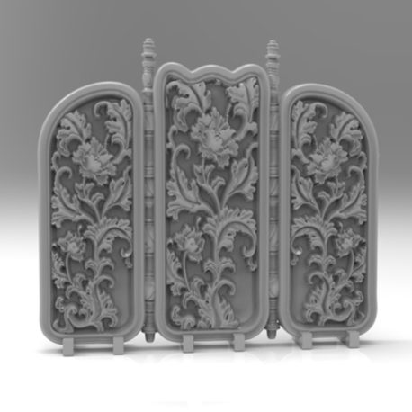 Tri-part Room Divider from Effincool Miniatures